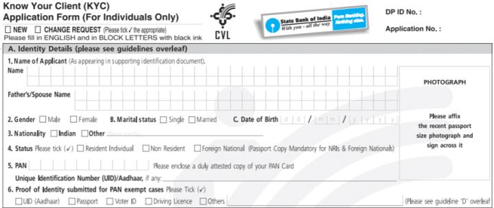 sbi online application form pdf