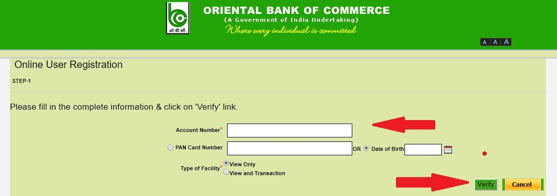 OBC bank net banking