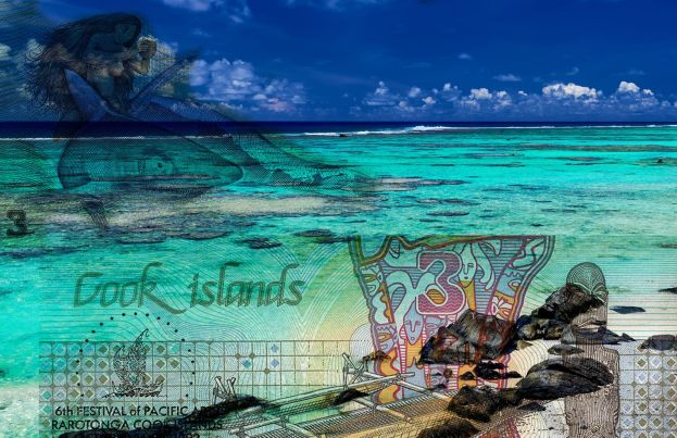 Beaches of Cook Islands, Graphic of Ina and the Shark.