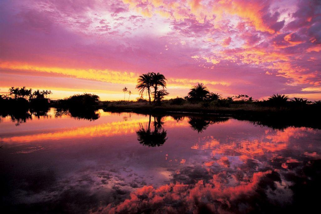 Fiji pink sunset