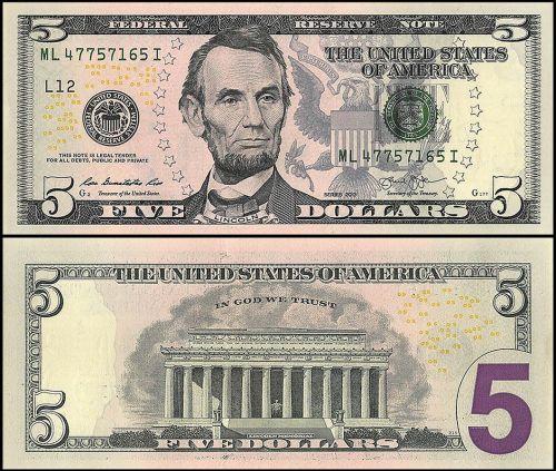 US $5 Dollars