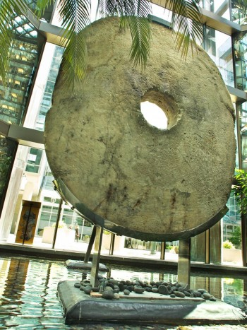 stone ring on a stand