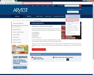 Online banking for Arvest Bank Routing Number