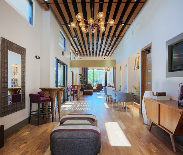 Audere Apartments Clubhouse With Modern Features And A Entertainment Center
