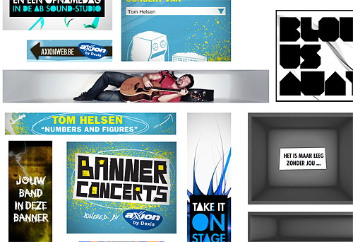Band in a banner ad for Axion