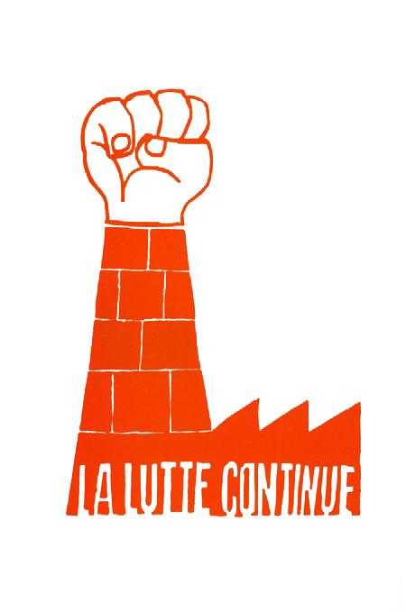 AtelierPopulaire-fondblanc-Mai68-LaLutteContinue-banquedelimage