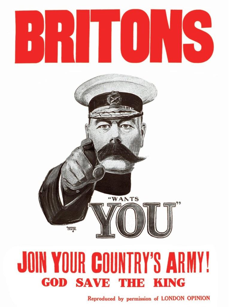 Campagne de recrutement de l'armée britannique pendant la Première Guerre mondiale qui inspira l'affiche de Montgomery Flagg