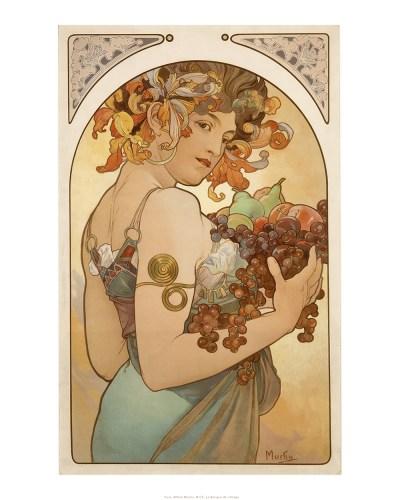 Les fruits, Alphonse Mucha