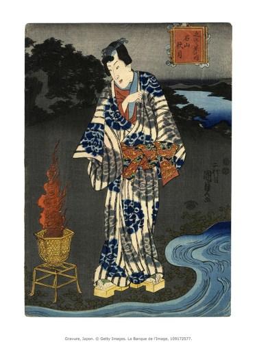 Ishiyama Temple, Utagawa Kunisada, Banque de l'image