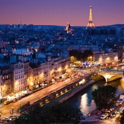 Paris de nuit, Banque de l'image