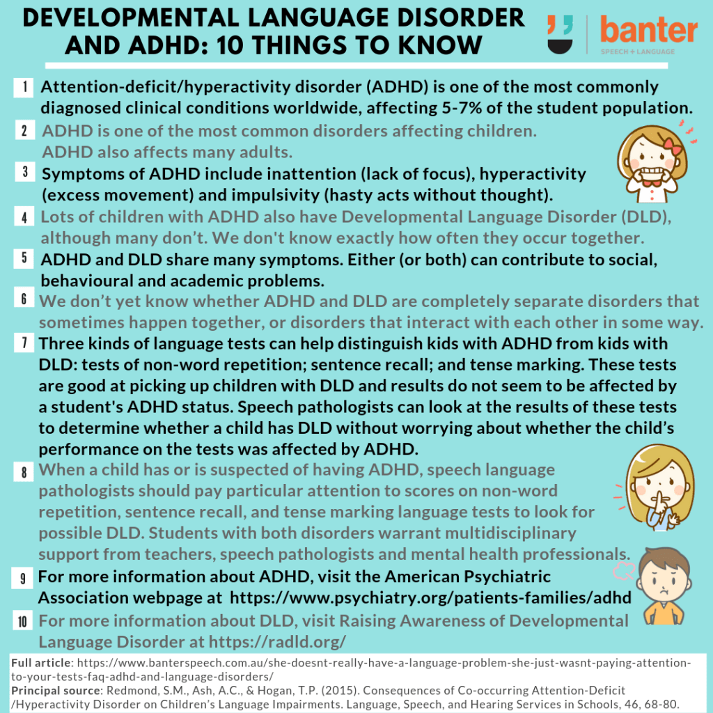 DevLangDis and ADHD 10 things to know