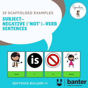 Subject-Negative (Not)-Verb Sentences