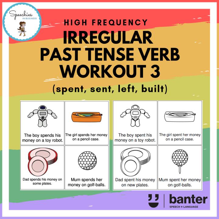 Irregular past tense verb work out 3