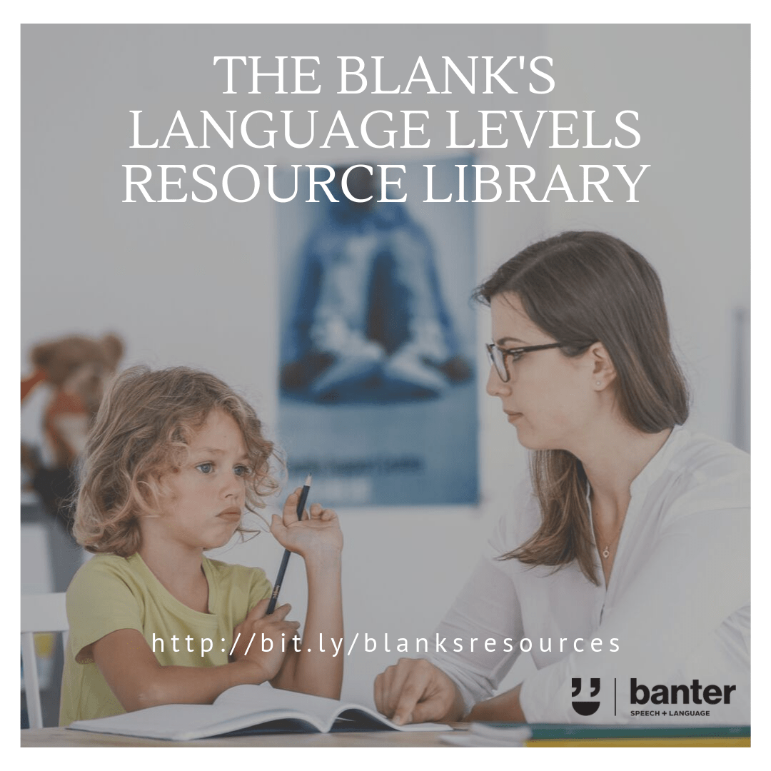 Blank's language levels resource library
