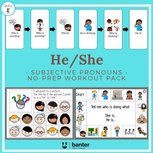 He/She Subjective Pronouns No Prep Workout Pack
