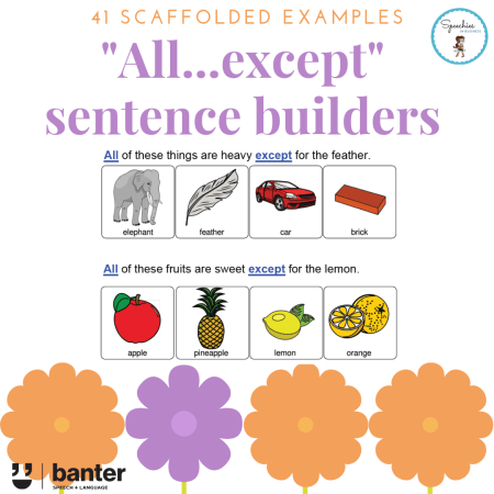All Except Sentence Builders