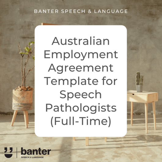 Australian SLP Employment Agreement Full Time
