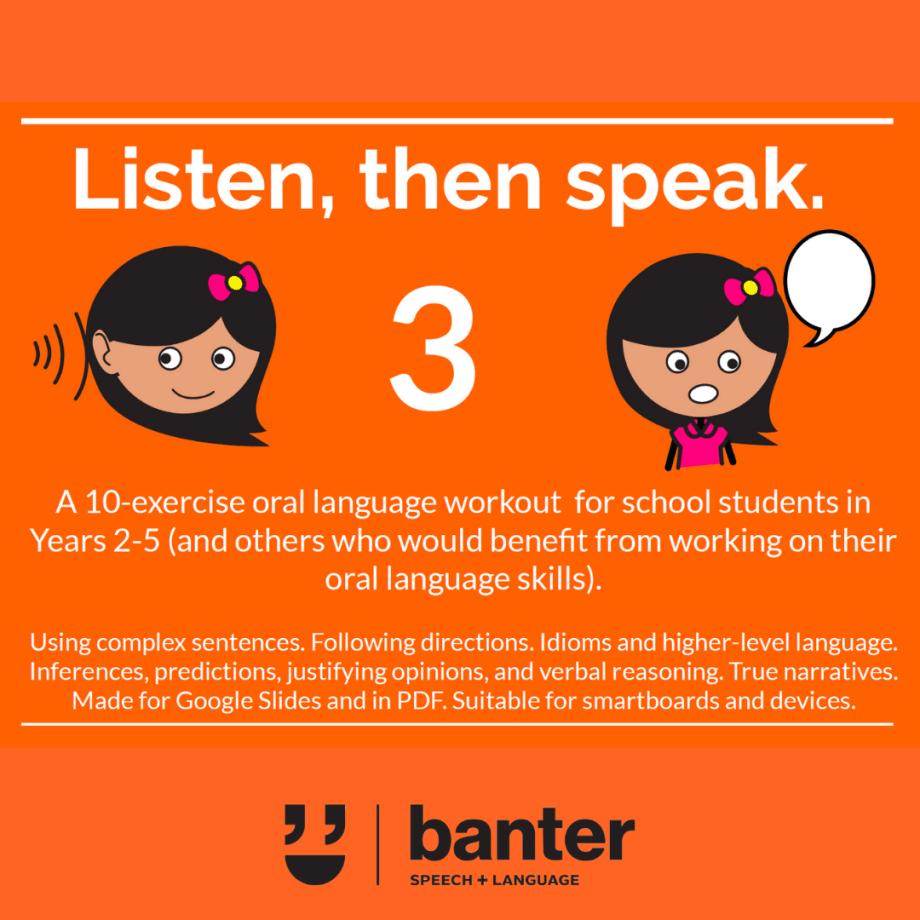 Listen then speak 3