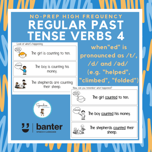 Regular Past Tense Verbs 4