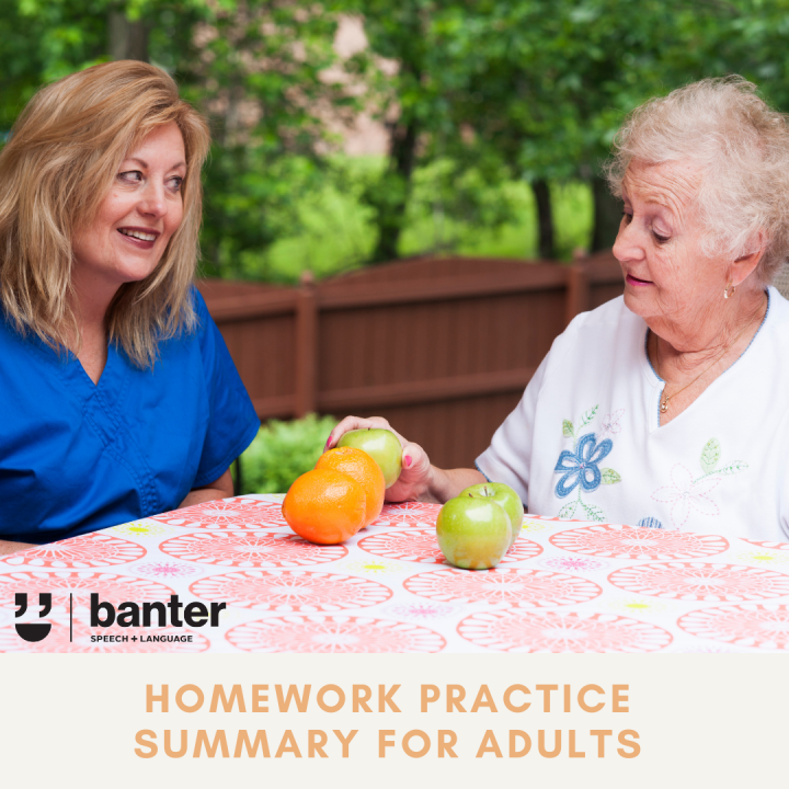 homework practice summary for adults