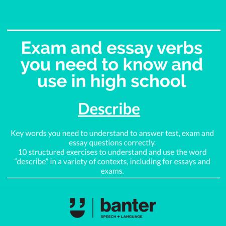 Exam and essay verbs Describe