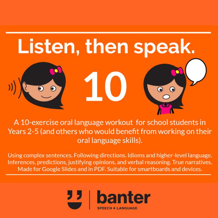 Listen then speak 10