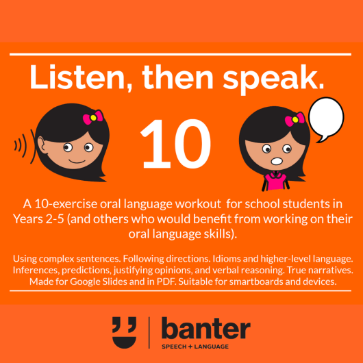 Listen then speak 10