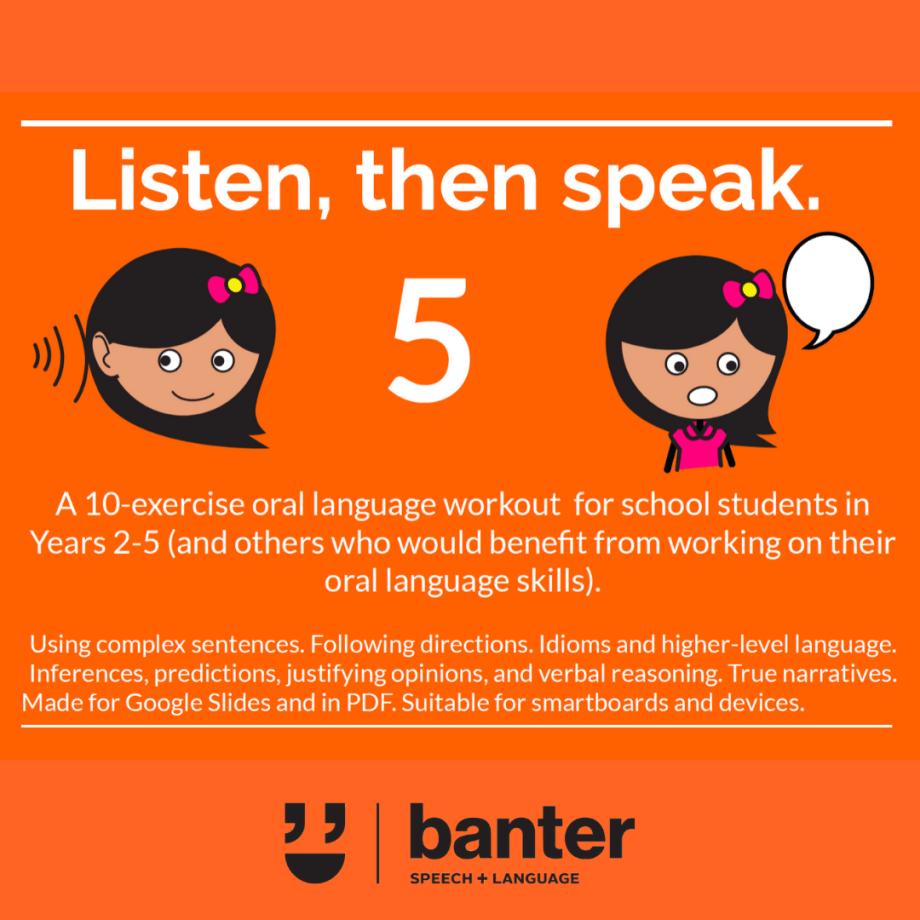 Listen then speak 5