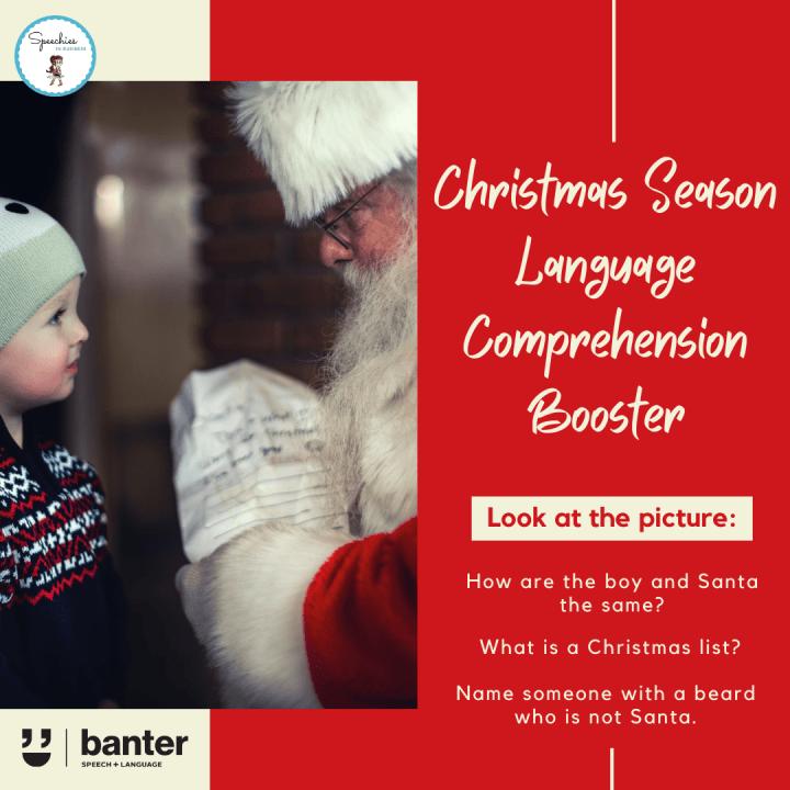 Christmas Season Language Comprehension booster