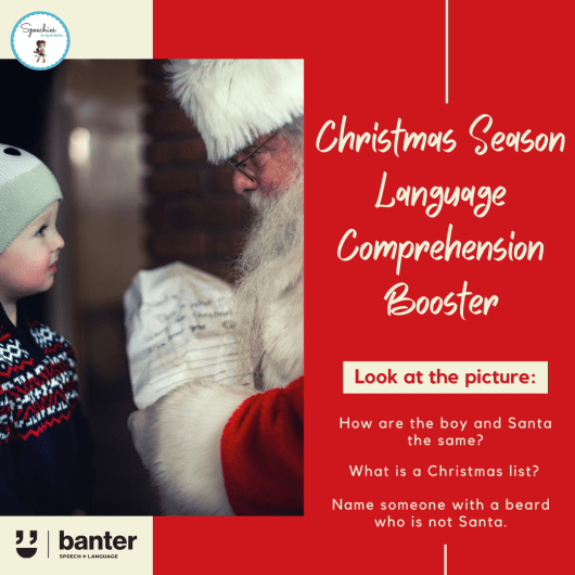 Christmas Season Language Comprehension booster