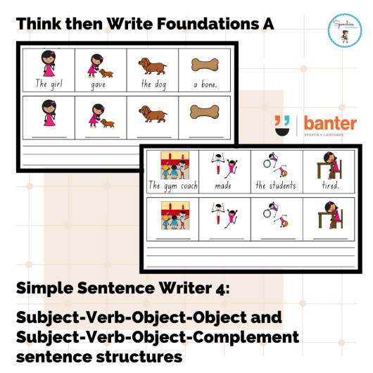 Think and Write Foundations A SSW4 SVOO SVOC