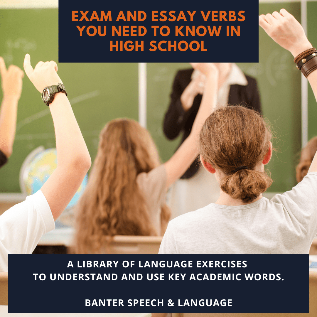 Exam and Essay Verbs You Need To Know in High School