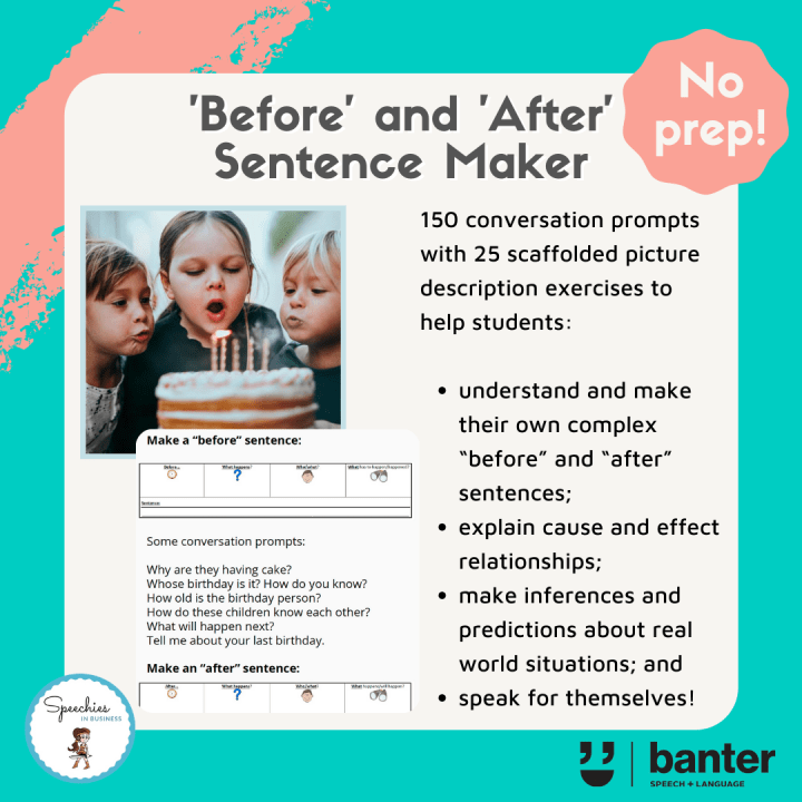'Before' and 'After' Sentence Maker