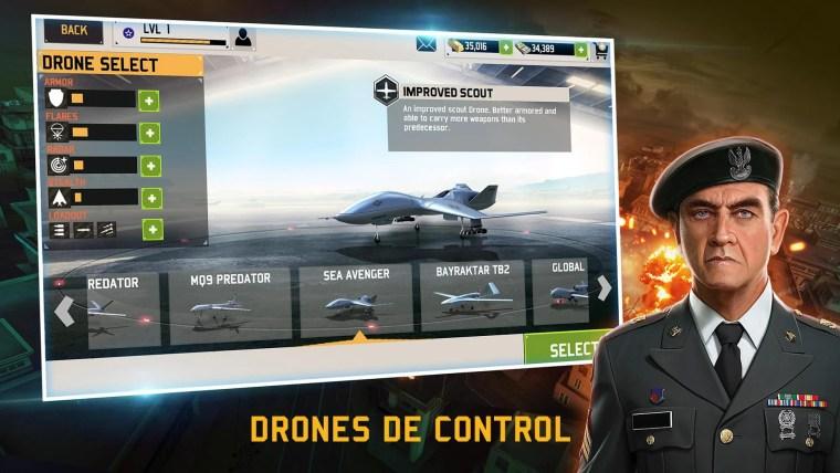 selección de drones en drone shadow strike 3