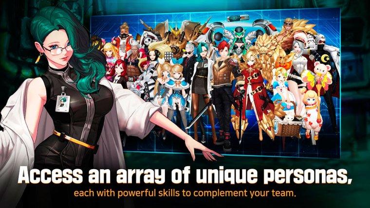 todos los personajes de Gate Six Cyber Persona