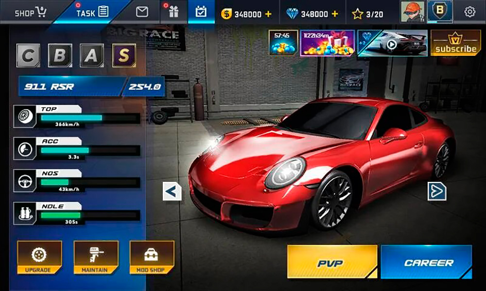 Imagen del juego Street Racing HD.