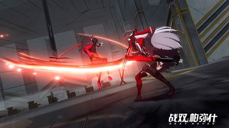 Punishing Gray Raven dos personajes luchando