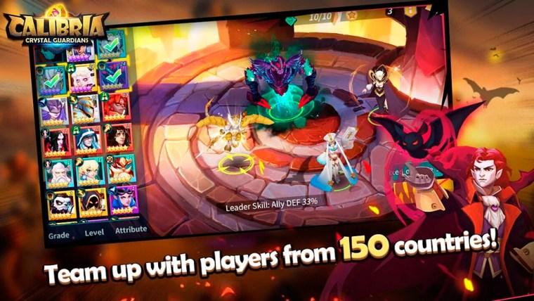 Personajes en el juego Calibria: Crystal Guardians