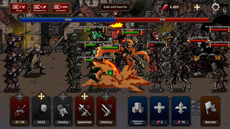 Gameplay de King's Blood: The Defense
