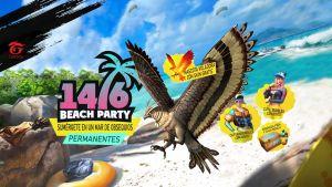 garena free fire evento beach party con mascota exclusiva gratis