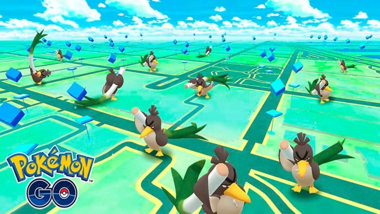 Pokémon Go lleno de farfetch'd