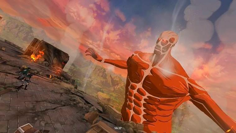the seven deadly sins grand cross attack on titan titan colosal