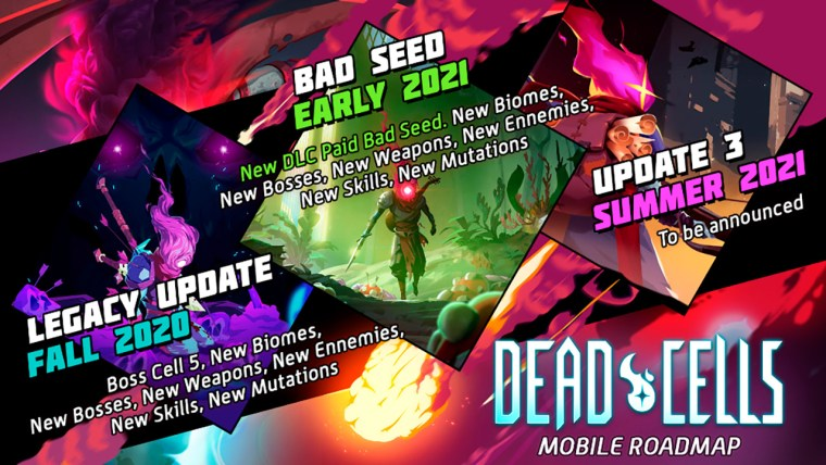 dead cells mobile roadmap actualizaciones