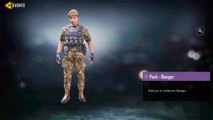 Soldado Park Ranger en Call of Duty Mobile