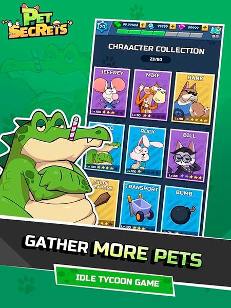 Personajes en Pet Secrets