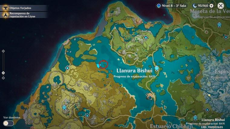 genshin impact mapa flor dorada