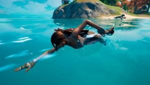 Nadar en Fortnite