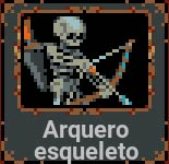 Arquero esqueleto en Loop Hero