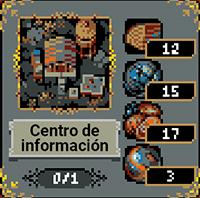 Centro de información en Loop Hero