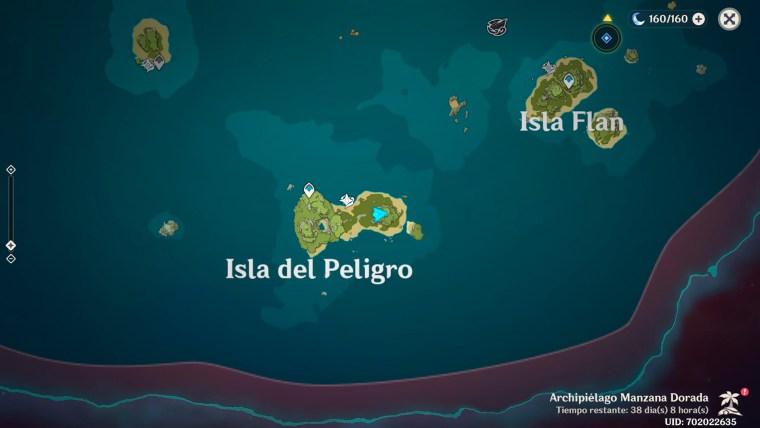 genshin impact al otro lado de la isla y el mar -isla del peligro